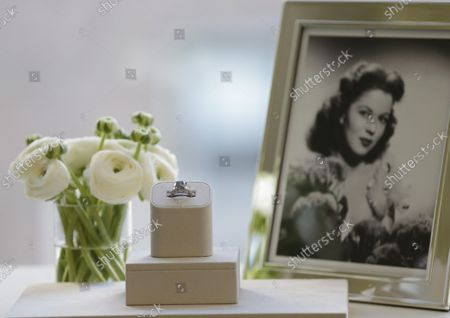 The Shirley Temple Blue Diamond is on display before its auction at Sotheby's in New York City on March 18, 2016. The Shirley Temple Blue Diamond is a 9.54-Carat Fancy Deep Blue Diamond Ring Worn by American Hollywood child star Shirley Temple and is estimated to sell for $25-$35 million dollars. Temple's father purchased the diamond ring in early 1940 for $7,210 at around the time of her 12th birthday.