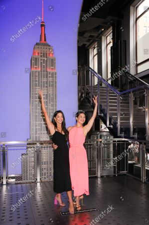Editorial picture of Chicago the Musical Co-Stars Visit The Empire State Building, New York, USA - 30 Aug 2021