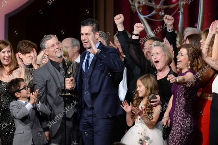 """Producer Frank Valentini accepts the Outstanding Drama Series award for """"General Hospital"""" during the 43rd annual Daytime Emmy Awards at the Westin Bonaventure Hotel in Los Angeles on May 1, 2016."""