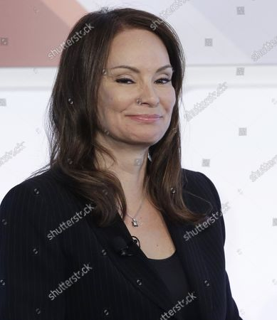 Stock Image of Treasurer of the United States Rosa Gumataotao Rios speaks at the 4th annual Forbes Women's Summit at Pier 60 Chelsea Piers in New York City on May 12, 2016.