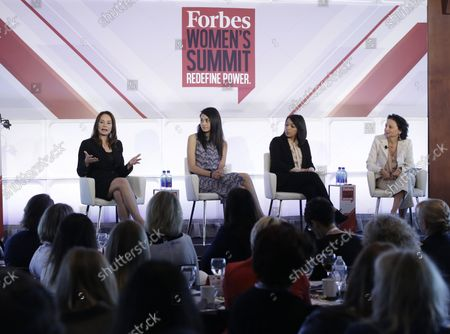 Stock Picture of Treasurer of the United States Rosa Gumataotao Rios speaks at the 4th annual Forbes Women's Summit at Pier 60 Chelsea Piers in New York City on May 12, 2016.