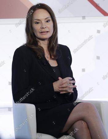 Stock Photo of Treasurer of the United States Rosa Gumataotao Rios speaks at the 4th annual Forbes Women's Summit at Pier 60 Chelsea Piers in New York City on May 12, 2016.