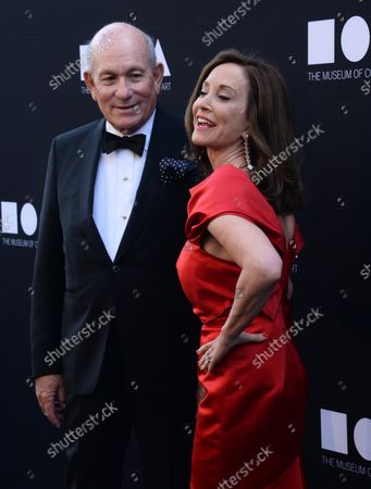 Bruce Karatz and gala co-chair Lilly Tartikoff Karatz attend the 37th annual MOCA gala at The Geffen Contemporary at MOCA in Los Angeles on May 14, 2016.