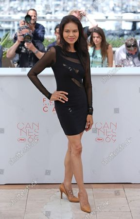 """Maria Isabel Lopez arrives at a photocall for the film """"Ma'Rosa"""" during the 69th annual Cannes International Film Festival in Cannes, France on May 18, 2016."""