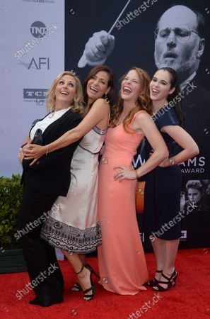 Actresses Marlee Matlin, Constance Marie, Katie Leclerc and Vanessa Marano (L-R) attend American Film Institute's 44th Life Achievement Award gala tribute to composer John Williams at the Dolby Theatre in the Hollywood section of Los Angeles on June 9, 2016. Over six decades in Hollywood, Williams has written some of the most memorable music in movie history. His 100-plus features have earned 50 Academy Award nominations (making him the most-nominated living person), winning five times. Williams also received 22 Grammys, seven BAFTAs, five Emmys, four Golden Globes, a Kennedy Center Honor and the National Medal of Arts. And then there are all those iconic themes, the ones everyone in the world knows.