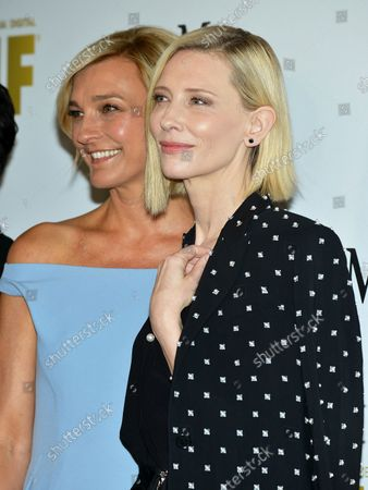 Cate Blanchett (R) and Nicola Maramotti arrive at the Women In Film 2016 Crystal + Lucy Awards at the Beverly Hilton in Beverly Hills, California on June 15, 2016.