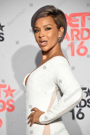 Stock Image of Actress LisaRaye McCoy-Misick appears backstage during the 16th annual BET Awards at Microsoft Theater in Los Angeles on June 26, 2016.
