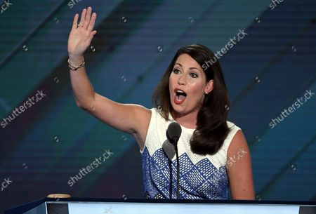 Kentucky Secretary of State Alison Lundergan Grimes speaks on day two of the Democratic National Convention at the Wells Fargo Center in Philadelphia, Pennsylvania on July 26, 2016. The delegates will nominate Hillary Clinton as the Democratic presidential candidate.