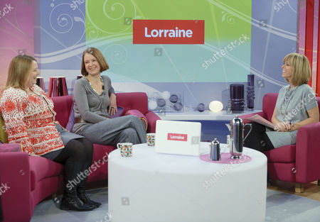 Joanna Scanlan and Vicki Pepperdine with Kate Garraway.