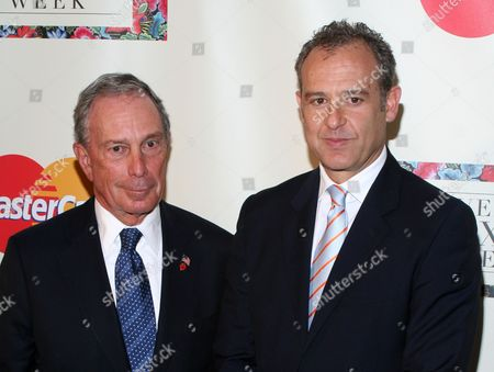 Stock Image of Michael Bloomberg, Arturo Sarukhan