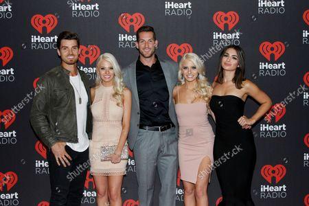 Reality Tv stars Luke Pell, Haley Ferguson, Chase McNary, Emily Ferguson and Ashley Iaconetti arrive for the iHeartRadio Music Festival at the T-Mobile Arena in Las Vegas, Nevada on September 23, 2016.