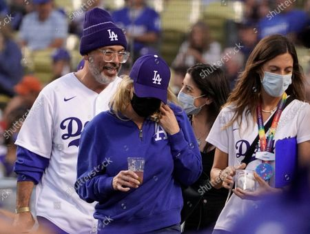 Editorial image of Jo Koy throws out the first pitch before the MLB game, Atlanta Braves v Los Angeles Dodgers, Major League Baseball, Dodger Stadium, Los Angeles, California, USA - 31 Aug 2021