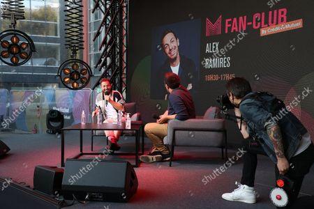 Alex Ramires await during the Fan Club of Series Mania Festival