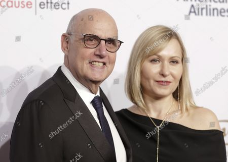 Jeffrey Tambor and Kasia Tambor arrive on the red carpet at the 15th Annual Elton John AIDS Foundation An Enduring Vision Benefit at Cipriani Wall Street on November 2, 2016 in New York City.