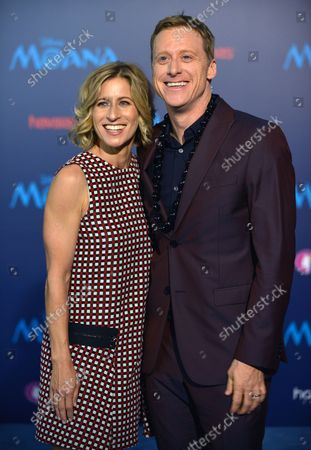 Actor Alan Tudyk and his wife Charissa Barton arrive at the world premiere of Walt Disney Animation Studios' 'Moana' at Hollywood's El Capitan Theatre in Los Angeles, California on November 14, 2016. The premiere is part of the lineup for AFI FEST 2016.