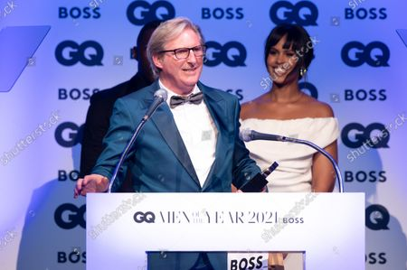 Adrian Dunbar, winner of the 'Television Actor' award, with Sabrina Dhowre Elba