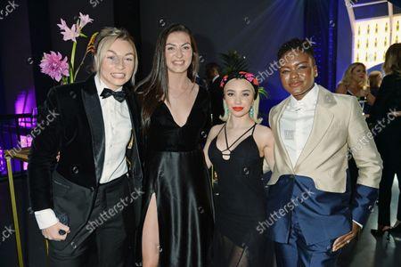 Lauren Price, Karriss Artingstall, Ella Baig and Nicola Adams