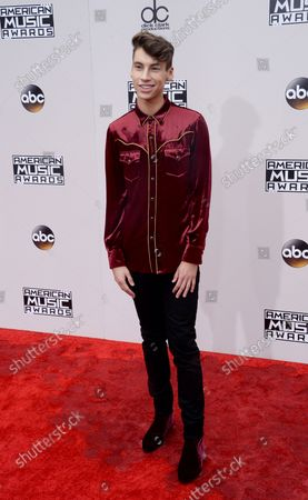 Stock Photo of Internet personality Jack Baran arrives for the 2016 American Music Awards held at Microsoft Theater in Los Angeles on November 20, 2016.