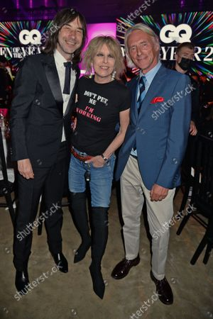 Stock Photo of Bobby Gillespie, Chrissie Hynde and Paul Weller