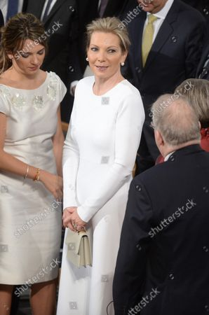 Colombian First Lady Maria Clemencia Rodriguez de Santos attends the Nobel Peace Prize Award Ceremony at City Hall in Oslo on December 10, 2016.