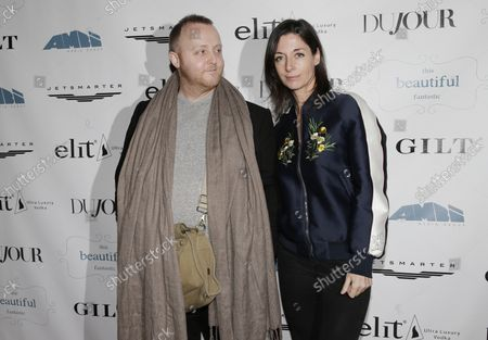 """Stock Image of Mary McCartney and James McCartney arrive on the red carpet at a screening of """"This Beautiful Fantastic"""" at SVA Theatre on December 19, 2016 in New York City."""