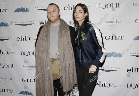"""Mary McCartney and James McCartney arrive on the red carpet at a screening of """"This Beautiful Fantastic"""" at SVA Theatre on December 19, 2016 in New York City."""