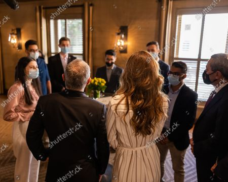 Their Majesties King Abdullah II and Queen Rania meet with this year's top Tawjihi students.