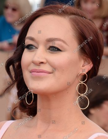 Actress Mamrie Hart arrives for the the 23rd annual SAG Awards held at the Shrine Auditorium in Los Angeles on January 29, 2017. The Screen Actors Guild Awards will be broadcast live on TNT and TBS.