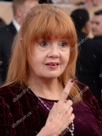 Actress Annie Golden arrives for the 23rd annual SAG Awards held at the Shrine Auditorium in Los Angeles on January 29, 2017. The Screen Actors Guild Awards will be broadcast live on TNT and TBS.