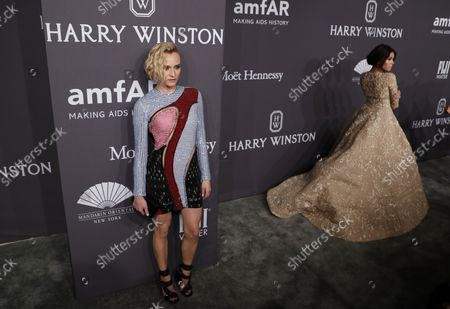 Editorial photo of Diana Kruger arrives at annual amfAR New York Gala, United States - 08 Feb 2017