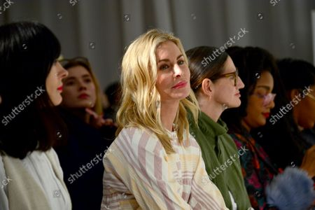 Model Niki Taylor sits on the front row during the Mara Hoffman fashion show at New York Fashion Week: The Shows at Shop Studios on February 13, 2017 in New York City.
