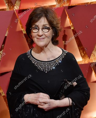 Costume designer Consolata Boyle arrives on the red carpet for the 89th annual Academy Awards at the Dolby Theatre in the Hollywood section of Los Angeles on February 26, 2017.