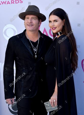 Stock Photo of Recording artist Jerrod Niemann (L) and Morgan Petek attend the 52nd annual Academy of Country Music Awards held at T-Mobile Arena in Las Vegas, Nevada on April 2, 2017. The show will be telecast live on CBS.