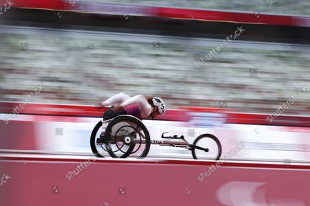 Tatyana McFadden (USA) - Athletics : Women's 400m T54 Round 1 during the Tokyo 2020 Paralympic Games at the National Stadium in Tokyo, Japan.
