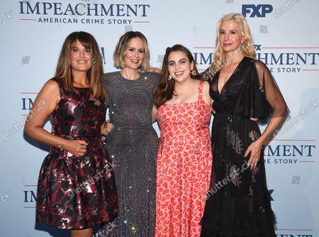 Stock Photo of Mira Sorvino, Monica Lewinsky, Beanie Feldstein, Sarah Paulson