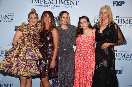 Stock Image of Annaleigh Ashford, Mira Sorvino, Monica Lewinsky, Beanie Feldstein, Sarah Paulson