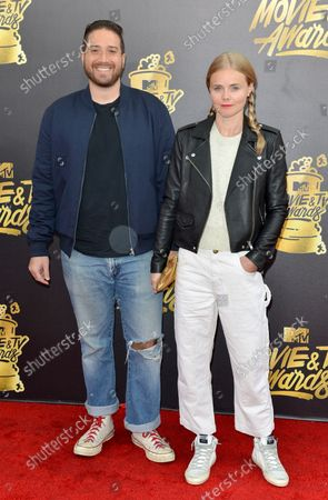 Filmmakers Jenner Furst (L) and Julia Willoughby Nason attend the MTV Movie & TV Awards at the Shrine Auditorium in Los Angeles on May 7, 2017. It will be the 26th edition of the awards, and will for the first time present honors for work in television as well as cinema.
