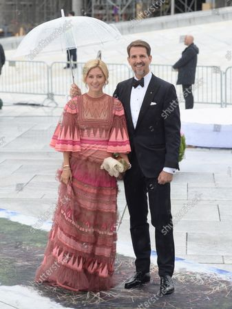 Greek Crown Prince Pavlos and Crown Princess Marie Chantal attend a gala banquet to celebrate King Harald V and Queen Sonja's 80th birthdays at the Opera House in Oslo on May 5, 2017.