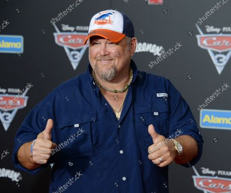 """Cast member Daniel Lawrence Whitney, aka Larry the Cable Guy, the voice of Mater in the animated motion picture comedy """"Cars 3"""" attends the premiere of the film at the Anaheim Convention Center in Anaheim, California on June 10, 2017. Storyline: Lightning McQueen sets out to prove to a new generation of racers that he's still the best race car in the world."""