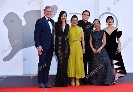 The cast of 'Land of Dreams'  US actor Christopher McDonald, a guest, German actress Nicole Ansari-Cox, US actor Matt Dillon, Iranian director Shirin Neshat and Sheila Vand arrive for the premiere of 'E' stata la mano di Dio' (The Hand of God) during the 78th Venice Film Festival in Venice, Italy, 02 September 2021. The movie is presented in the official competition 'Venezia 78' at the festival running from 01 to 11 September 2021.