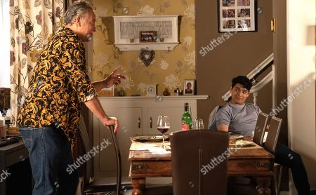 Coronation Street - Ep 10427 Monday 13th September 2021 - 2nd Ep Dev Alahan, as played by Jimmi Harkishin, throws a dinner party for Aadi Alahan, as played by Adam Hussain, Summer Spellman and Billy Mayhew and explains that he wants to get to know Summer better.