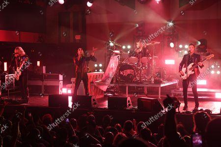 Adam Slack, Luke Spiller, Gethin Davies and Jed Elliott of The Struts perform