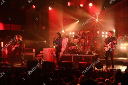 Stock Picture of Adam Slack, Luke Spiller, Gethin Davies and Jed Elliott of The Struts perform