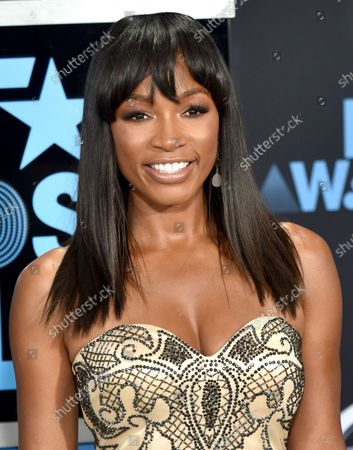 TV personality Cari Champion attends the 17th annual BET Awards at Microsoft Theater in Los Angeles on June 25, 2017. The ceremony celebrates achievements in entertainment and honors music, sports, television, and movies released between April 1, 2016 and March 31, 2017.