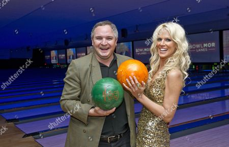 Editorial photo of Michaele and Tereq Salahi promoting a bowling lane in Bethesda, Maryland, America  - 26 Oct 2010