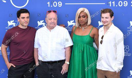 Stock Image of Paul Schrader, Oscar Isaac, Tiffany Haddish, Tye Sheridan