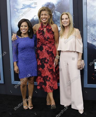 Chanel Jones, Hoda Kotb and Kathy Lee Gifford arrive on the red carpet at the 'DUNKIRK' New York Premiere on July 18, 2017 in New York City.