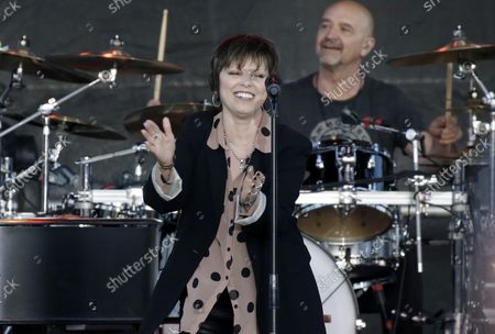 Stock Photo of Pat Benatar and Neil Giraldo perform at the 35th annual QuickChek New Jersey Festival of Ballooning in association with PNC Bank at Solberg Airport in Readington, NJ on July 29, 2017. The event is the largest summertime hot air balloon and music festival in North America.