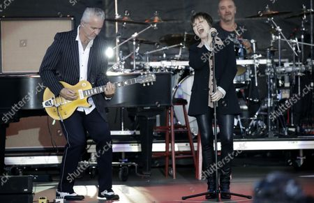 Pat Benatar and Neil Giraldo perform at the 35th annual QuickChek New Jersey Festival of Ballooning in association with PNC Bank at Solberg Airport in Readington, NJ on July 29, 2017. The event is the largest summertime hot air balloon and music festival in North America.