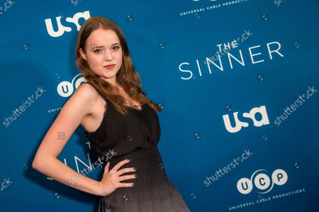 Nadia Alexander arrives on the red carpet at the Premiere Screening of USA Network's series 'The Sinner' at Crosby Street Hotel in New York City on July 31, 2017.